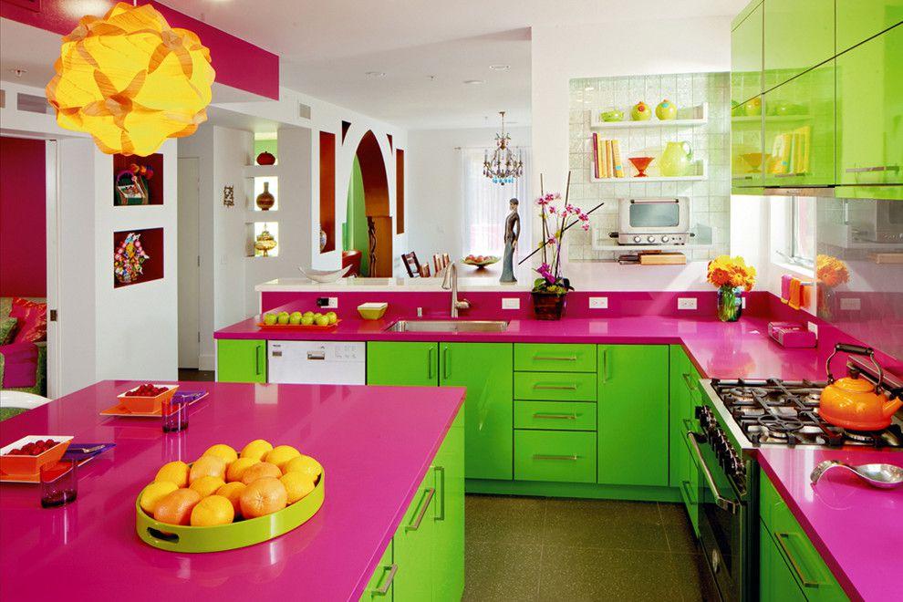 украсить кухню цветом